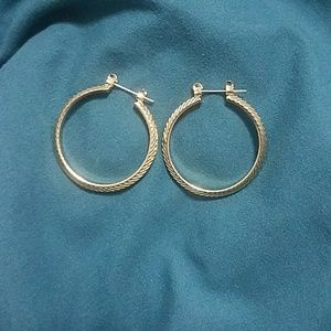 Small Anthropologie hoop earrings